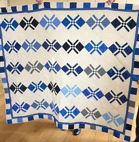 Our latest group-made quilt