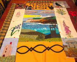 Pendeen Patchwork banner (in progress)